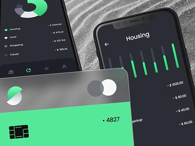 Slice Bank App ui typography mobile logo app color branding design flat clean