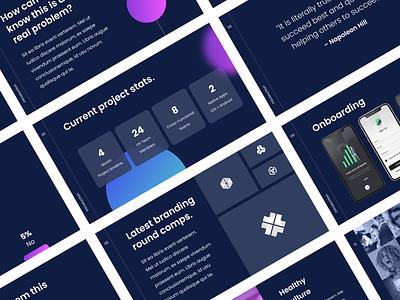 Orbit Deck Template vector icon minimal ui typography color flat branding clean design