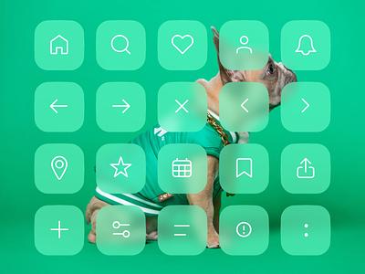 Essentials Icon Set design ui minimal icon illustration vector clean icon design iconography icons set icons flat
