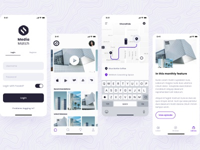Built with Pegasus Native web minimal vector typography design clean app ux pegasus design systems design system native native app
