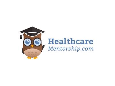 Healthcare Mentorship Branding icon ux flat web ui badge graduation courses smart owl nursing medical typography vector design illustration logo color clean branding