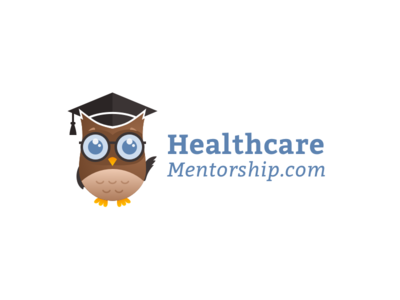 Healthcare Mentorship Branding icon ux flat web ui badge graduation courses smart owl nursing medical typography vector design illustration logo color clean branding