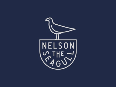 Nelson The Seagull bird badge mark branding signage cafe vancouver seagull