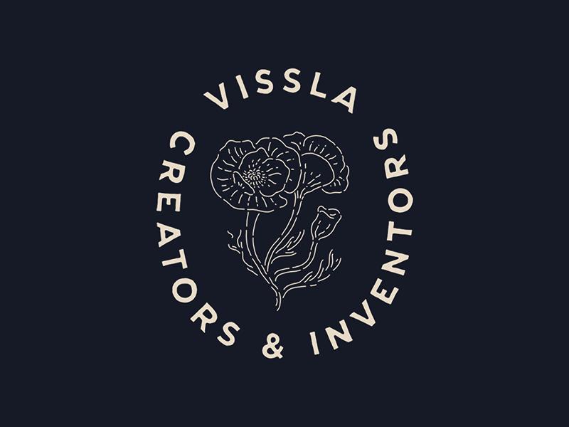 Vissla vissla surf flower poppy lockup monoline minimal type lettering hand drawn by hand