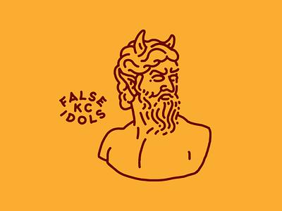 False Idols figure beard kc kansas city lockup minimal monoline devil mythology false idols idols
