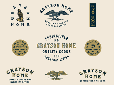 Grayson Home colorways assets signs letter forms vintage eagle typography type lettering branding