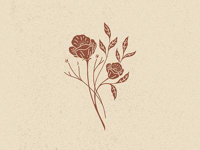 Wildflowers minimal vintage illustration leafs flowers wildflowers
