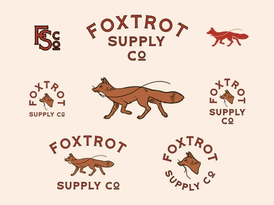 Foxtrot Supply Co needle leatherworks kc kansas city lockup foxtrot fox vintage rebrand