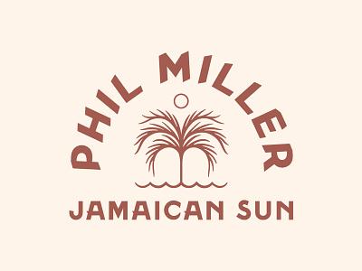 Phil Miller - Jamaican Sun vintage badge branding jamaican jamaica sun palm palm tree
