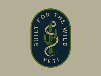 Yeti Patch adventure yeti coolers vintage outdoors patch cactus snake yeti