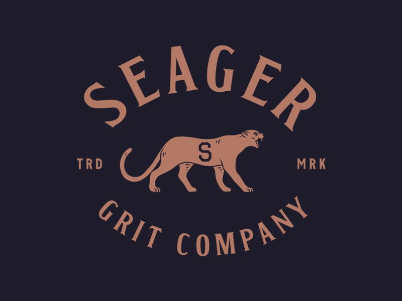 Seager ca california seager apparel minimal trade mark souvenir varsity lettering vintage mountain lion