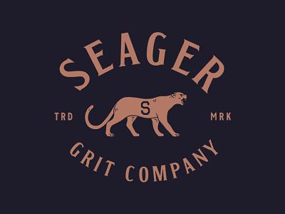 Seager ca california seager apparel minimal trade mark souvenir varsity lettering vintage mountain lion