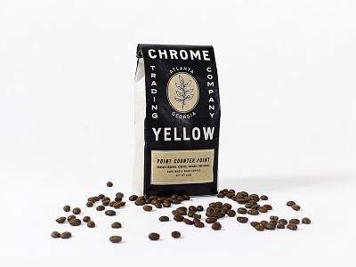 Chrome Yellow - Packaging monoline minimal vintage packaging coffee beans coffee chrome yellow