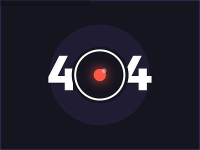 404 Error - HAL 9000 ui circle robot red design web error 404 odyssey spacy hal dark