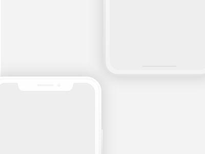 iPhone X Mockup for XD - Freebie xd presentation mockup minimal iphonex iphone8 iphone free flat device apple adobe