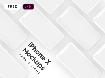 iPhone X Mockup for XD - Freebie
