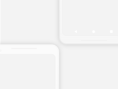 Pixel XL 2 Mockup for XD - Freebie iphonex iphone android xd presentation mockup minimal pixel free flat device google