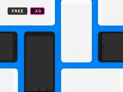 Pixel XL 2 Mockup for XD - Freebie