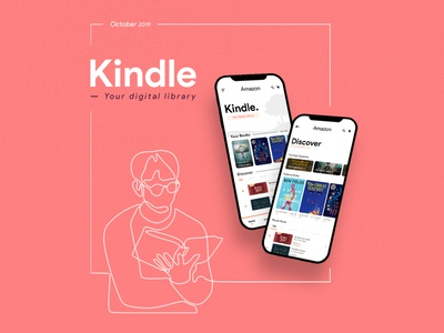 Kindle (UI Redesigned concept) + Free PSD