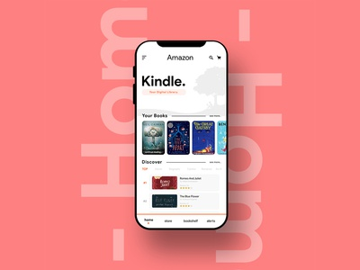 Kindle (Redesigned Home UI concept) + free PSD