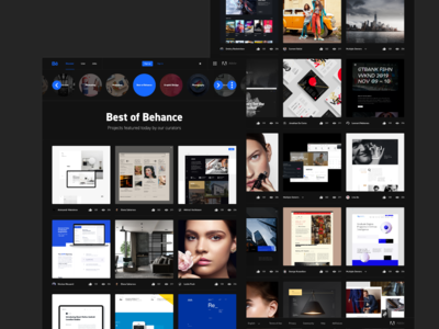 Behance Redesign Concept | Dark Mode - Full Project Coming Soon.