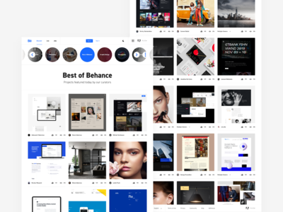 Working on a Behance Redesign Concept | Light Mode