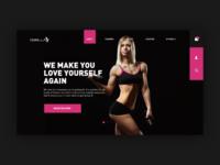 Fitness website header