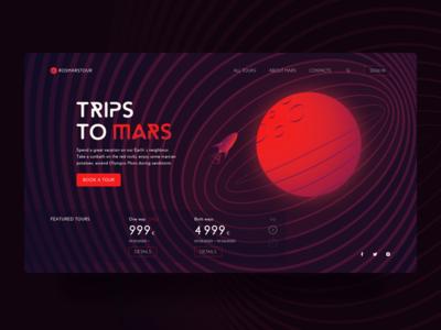 Trips to Mars Website