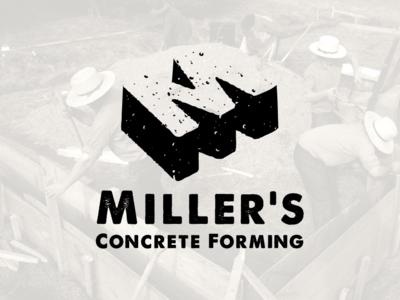 Miller's Concrete Forming vector gestalt logo gestalt logo logo design graphic designer graphic design