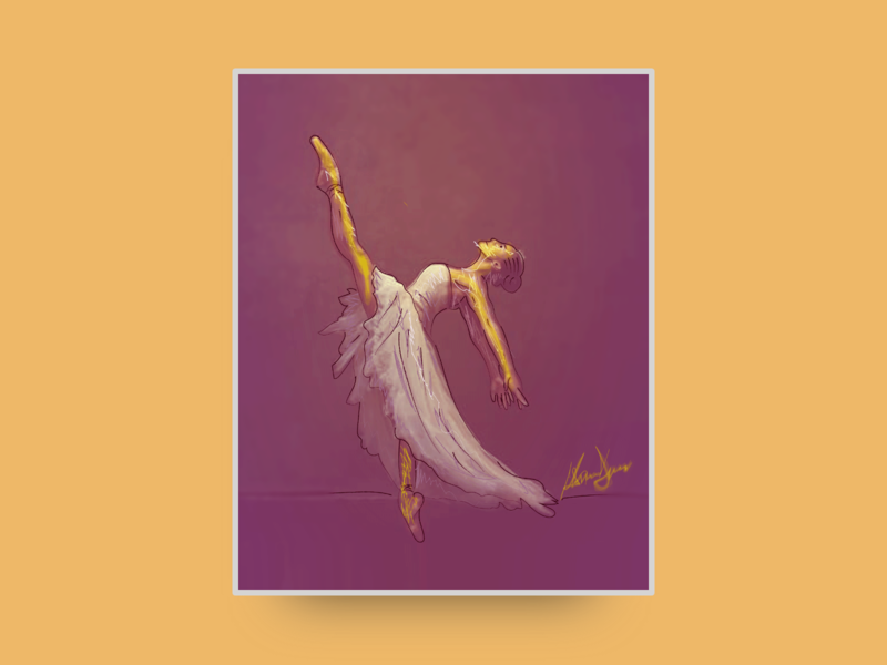 Digital painting :: Ballerina