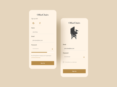 Daily001 sign up app dailyui design ux ui hellodribbble