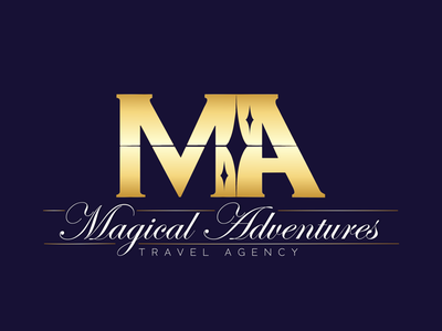 Magical Adventures gold logo luxury magic