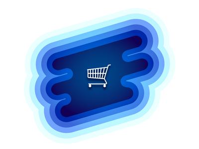 Cart blue graphic iconography icon abandoned illustrations cart illustrator design illustration