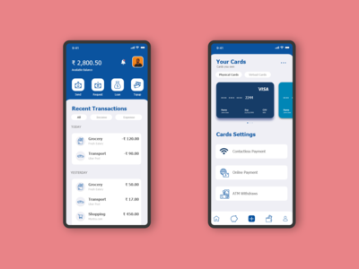 DailyUI #005 : Mobile wallet Interface