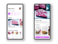 DailyUI #13 : Order n Bake Cake App UI