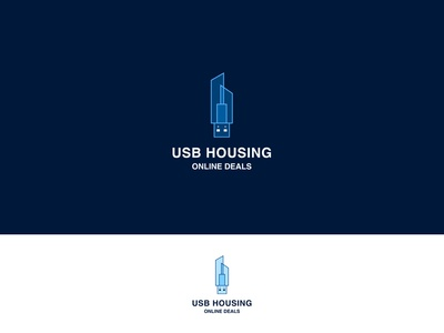 USB Housing Minimalist Business Logo By Deepestdesigner