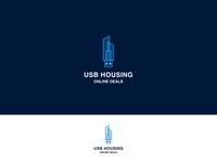 USB Housing Minimalist Business Logo By Deepestdesigner