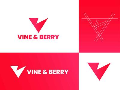 Vine & Berry Logo Design   VB Letter Mark abstract logo v letter logo gradient illustration 3d design logotype typography corporate branding corporate identity bakery logo logo icon logo mark letter mark logo branding simple logo minimalist logo brand identity business logo logo designer logo design