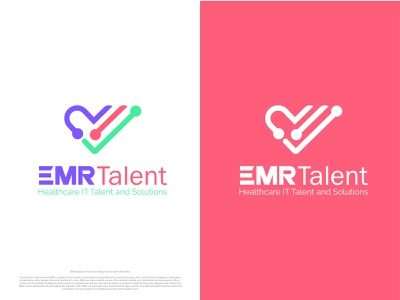 EMR Medical Logo medical care heartbeat brand identity minimalist logo branding logotype tech logo love emr solutions it logo healthcare talent clinic logo investment logo medical app medical logo business logo logo designer logo design