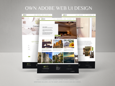 WEB UI For Real estate company