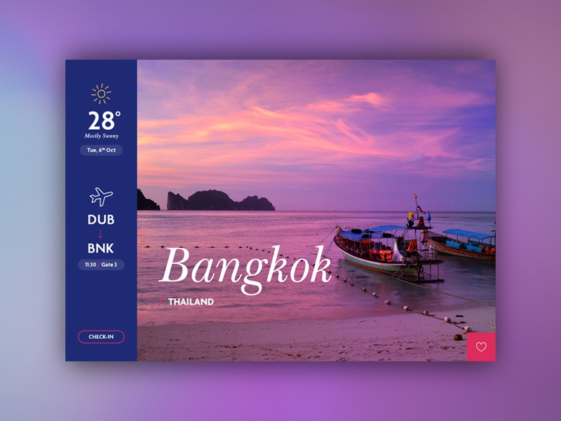 Travel Card flight design interface card travel ux ui