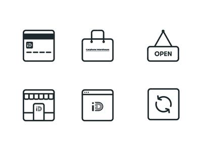 Carphone Warehouse Icon Set rounded glyph iconography set ui minimal stroke line flat icon icons