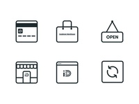 Carphone Warehouse Icon Set rounded glyph iconography set ui minimal stroke line flat icon icons
