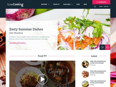 Recipe Website design web food cooking interface webdesign ux ui