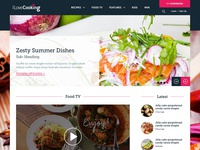 Recipe Website design web food cooking interface webdesign ux ui