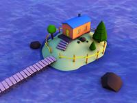 Low Poly Mini House v2)