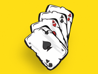 Casino Cards - Playing Cards - Four Aces • Illustration