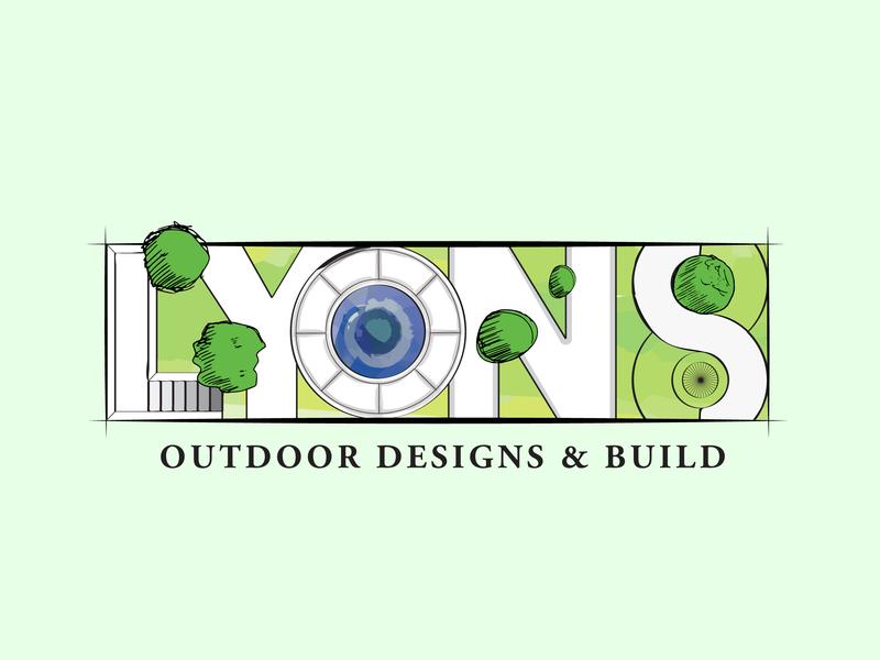 Lyons Outdoor Designs & Build detroit graphic designer detroit outline line weight logo illustration vector trees park environmental design outdoor design architecture landscape design