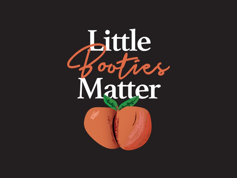 Little Booties Matter - T-Shirt Design branding flat design detroit graphic designer apparel design typography peach vector illustration little booties matter