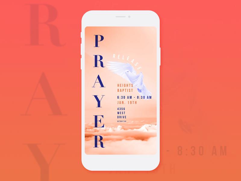 Prayer Meeting - Church Instagram Stories Template photoshop illustrator design ui detroit graphic designer flat design release meeting dove prayer instagram stories church graphics